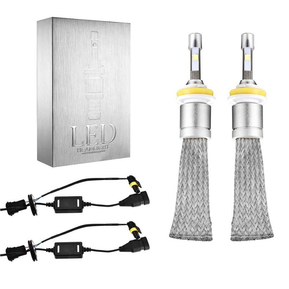 1Pair H8 H9 H11 LED Car Headlight Conversion Kit Fog Lamp Bulb 80W 9600LM H16(JP) Auto/Car LED Headlights For VW Toyota Mazda tc x upgrade led car headlight bulb kit h7 80w set h4 hi lo head lamp fog light kit h11 hb3 hb4 led auto front bulbs wholesale