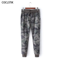 High Quality Women's Camouflage Pants Spring/Autumn Cotton Sweatpants Women Army Green Camouflage Pants Female Ladies Trousers