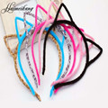 Hot Fashion Womens Cat Ear Headband Multicolor Fluffy Girls Hair Band Hair Accessories 1pc