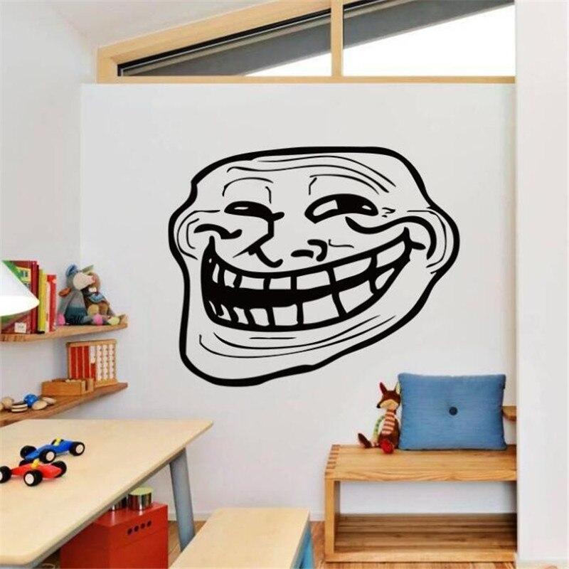 Idfiaf Lustige Lachendes Gesicht Wandaufkleber Kreative Grossen Mund
