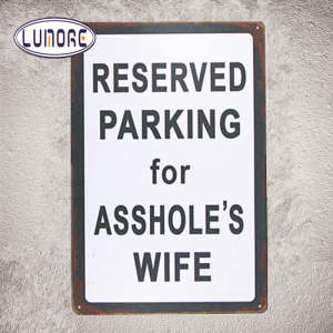 Reserved Parking for Wife Metal Tin sign Man Cave Home Decor Craft Wall Painting