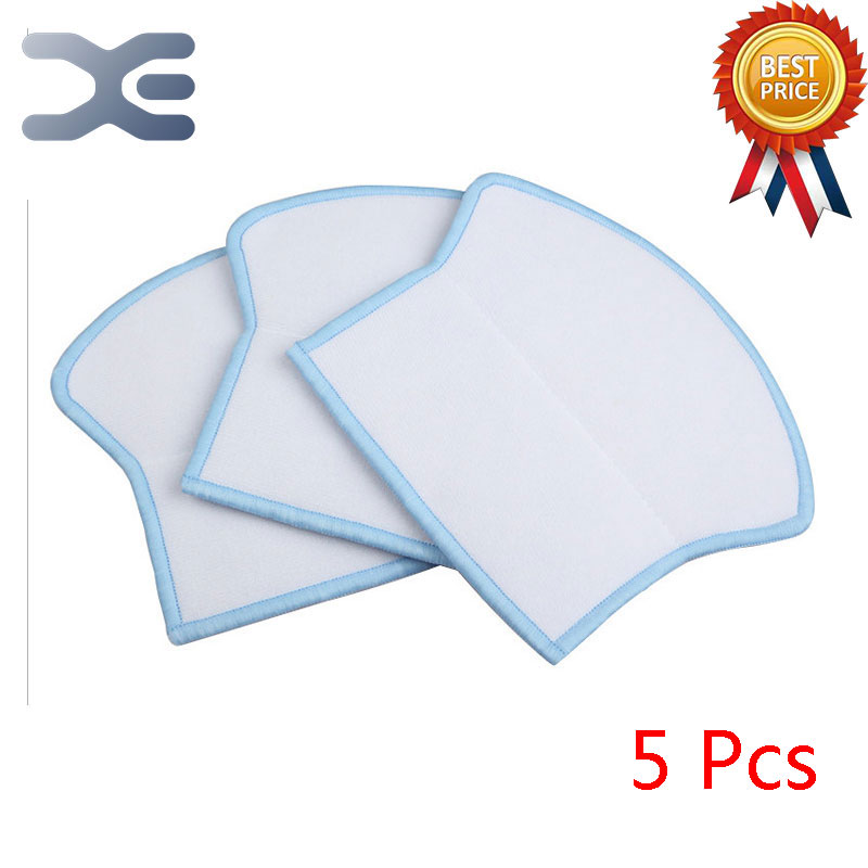 5 Pcs High Quality Ecovacs Vacuum Cleaner Parts Sweeping Machine Accessories Mop Cloth Cloth Cleaning Cloth 12pcs lot high quality robot vacuum cleaner wet mop hobot168 188 window clean mop cloth weeper vacuum cleaner parts
