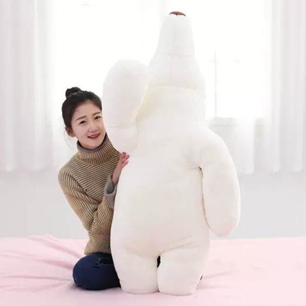 creative toy white polar bear doll about 120 cm bear plush toy long pillow, birthday gift x143 lovely giant panda about 70cm plush toy t shirt dress panda doll soft throw pillow christmas birthday gift x023