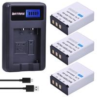 Batmax 3pc Bateria FNP 85 NP85 NP 85 Batteries + LCD USB Charger for Fujifilm S1 SL1000 SL240 SL245 SL260 SL280 SL300 Cameras
