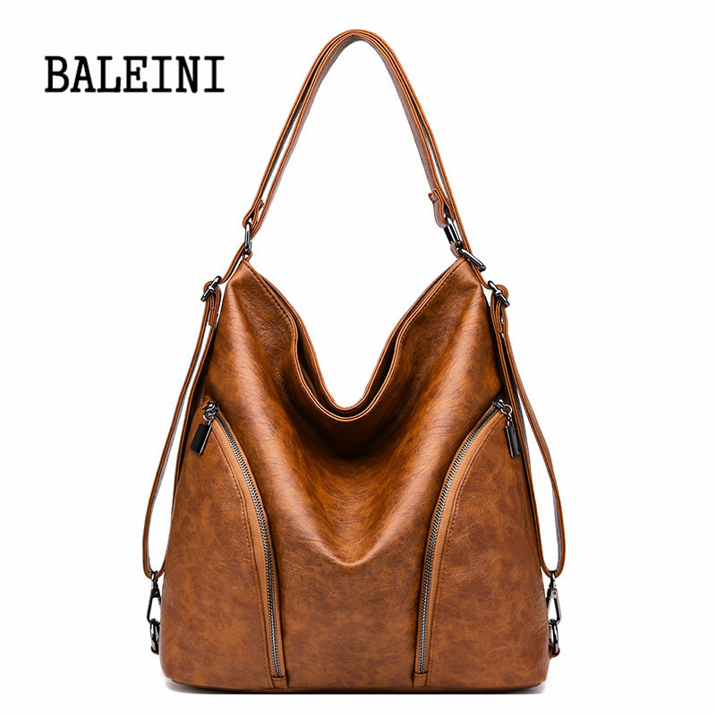Image 3 - Genuine Leather Handbags Big Women Bag High Quality Casual Female