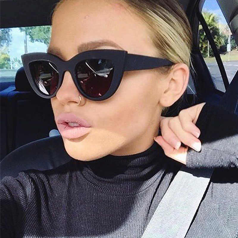 10814d3c7fd 2019 Cat eye Sunglasses Women Vintage Ladies Sunglass Retro Brand Designer  Sun Glasses Female Pink Mirror