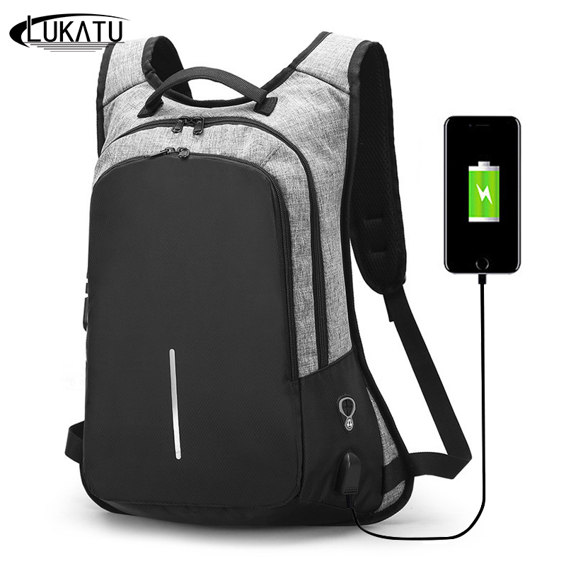Lukatu Fashion Men Backpack Anti-theft Laptop Bag School Backpacks Male Travel Shoulder Bag For Teenagers Mochila Bagpack