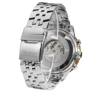 Image 4 - Jaragar Big Dial Aviator Series Military Scale Gold Elegant Dial Tourbillon Design Mens Watches Luxury Automatic Wrist Watch