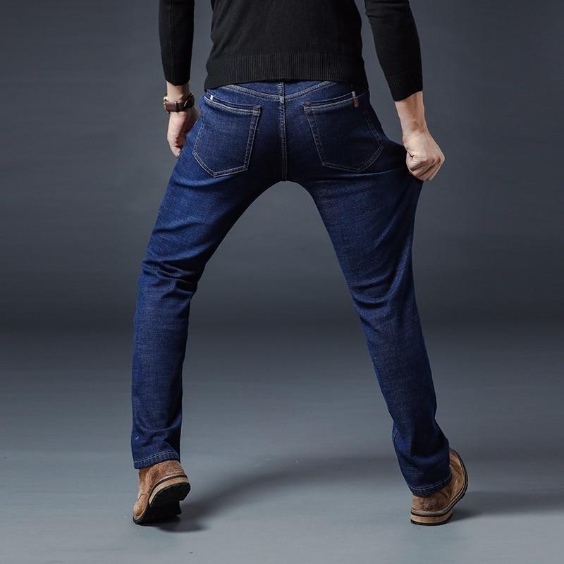 Image 5 - AIRGRACIAS 2019 Winter New Men Warm Jeans Famous Brand Thick  Jeans Soft Thicken Fleece Men Jeans Black/blue Long Trouser 28 40Jeans