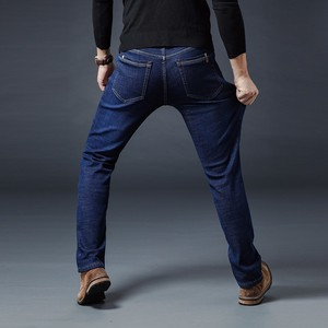 Image 5 - AIRGRACIAS 2019 Winter Nieuwe Mannen Warme Jeans Beroemde Merk Dikke Jeans Zachte Dikker Fleece Mannen Jeans Zwart/blauw Lange broek 28 40