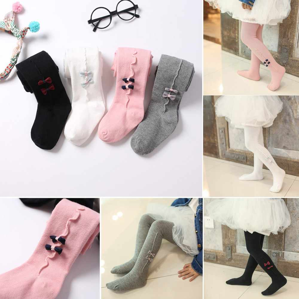 Toddler Baby Kids Girls Cute Bow Long Stockings Soft Panty Hose Pants Stockings Baby Cotton Trousers 2019 Hot Seller