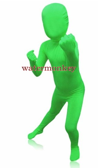 Watermonkey Brand kids Fullbody Lycra Spandex Zentai Bodysuit Children's Fancy dress Zentai Suit