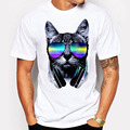2017 Short Music DJ Cat Printed Funny T-shirt Men Women Tops Summer New Fashion Casual Loose Plus Size S-4XL High Quality O-Neck