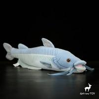Toys Plush Blue Catfish Dolls Simulation Stuffed Toy Rare Marine Animals Birthday Gifts