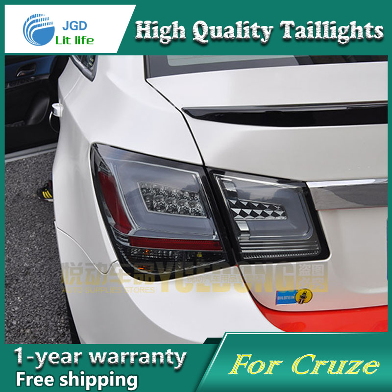 Car Styling Tail Lamp for Chevrolet Cruze 2009-2014 taillights Tail Lights LED Rear Lamp LED DRL+Brake+Park+Signal Stop Lamp car styling tail lamp for toyota prius taillights tail lights led rear lamp led drl brake park signal stop lamp