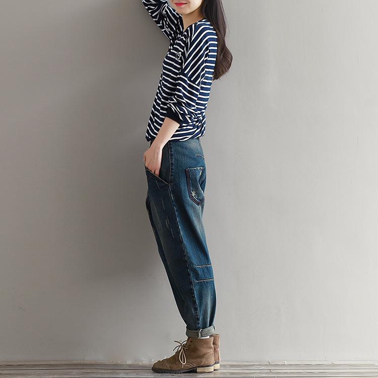 17 Winter Big Size Jeans Women Harem Pants Casual Trousers Denim Pants Fashion Loose Vaqueros Vintage Harem Boyfriend Jeans 16