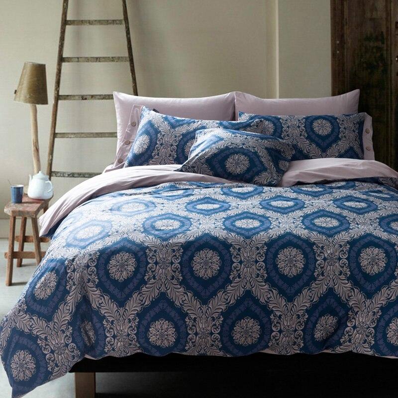 100  cotton unique bedding sets bed set linen Ocean tree blue queen size  bedclothes duvet. Online Get Cheap Unique Bedding Sets  Aliexpress com   Alibaba Group