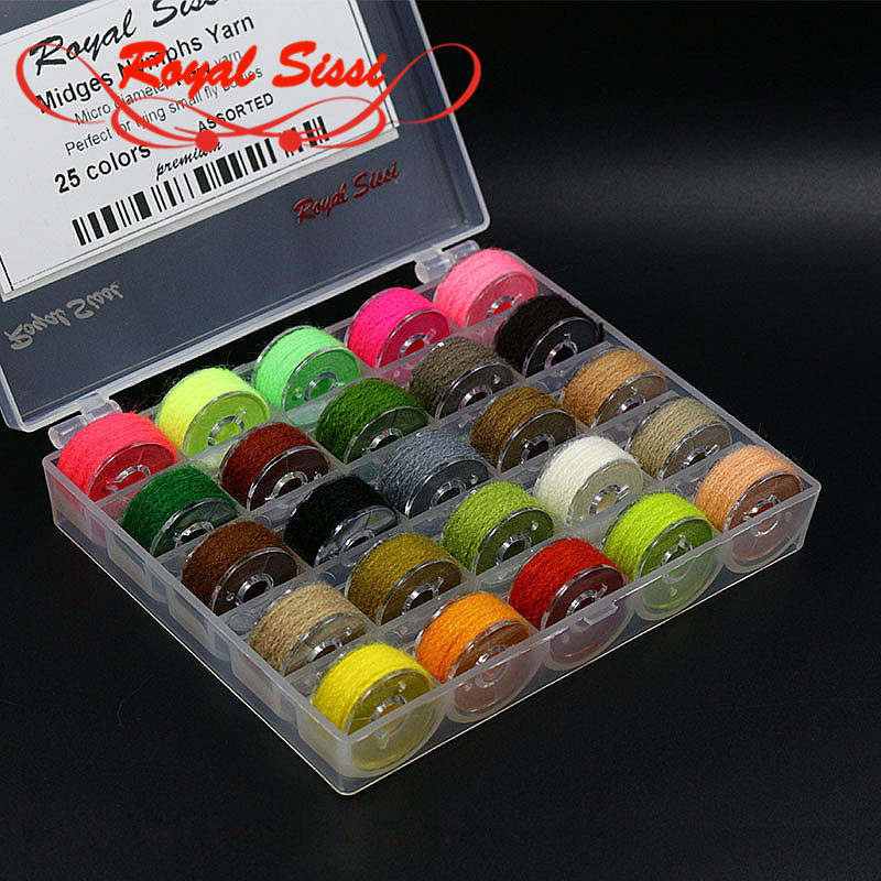 Royal Sissi 1box 25colors assortert mikrofiber garn midges nymfer - Fiske - Bilde 1
