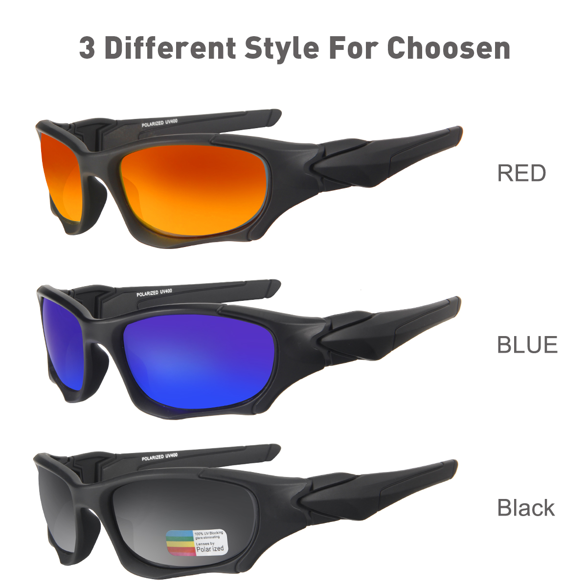 Queshark UV400 UltraLight Men Women Sunglasses Polarized Fishing Glasses Sports Goggles Cycling Climbing Hiking Fishing Eyewear 6