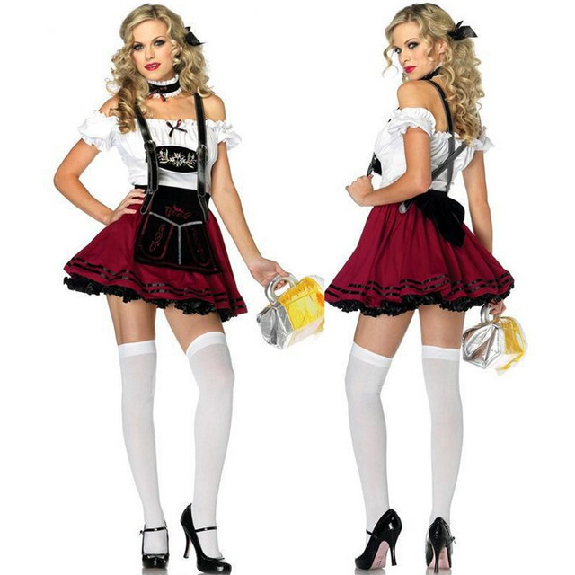 womens german traditional dirndl dress oktoberfest beer