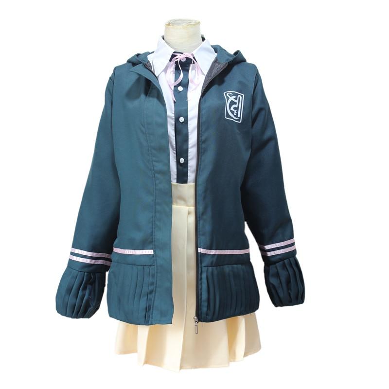 Super DanganRonpa 2 Dangan Ronpa Cosplay Chiaki Nanami Uniforms Jacket Shirt Tie Skirt For Women Cosplay Costume