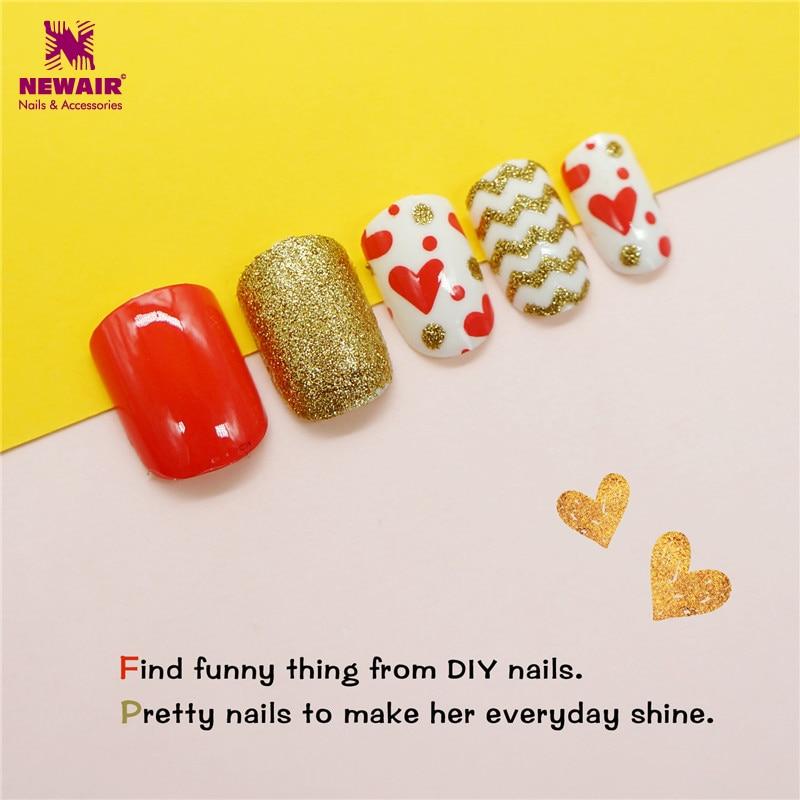 blingbling kinder falsche nagelspitzen herz muster pre kleber volle abdeckung drcken auf kinder geflschte ngel - Nails Muster