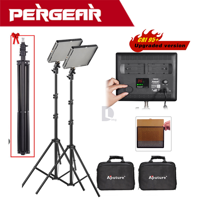 Aputure Amaran AL-528W High CRI 95+ 528pcs LED Video Studio Light Panel +2M (6.5ft) Light Stand as Gift настенный светильник azteca sonex 1071155