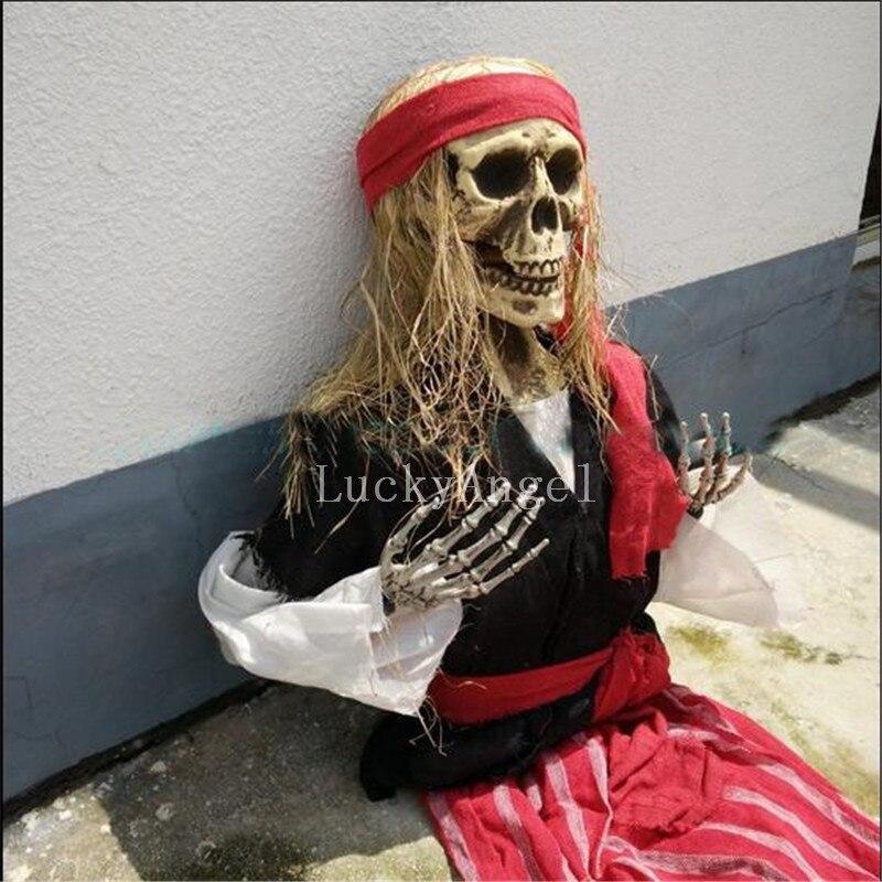 Хэллоуин украшения страшно пиратский череп Для тела Хэллоуин маска Ужасы Страшно Череп Призрак Для тела для маскарада дом с привидениями б…
