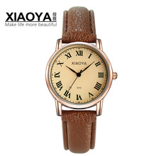 XIAOYA Lovers Watch Fashion Design Couple Dress Wristwatch Leather Waterproof Watches Male Women Sport Clock Lovers Watch Men