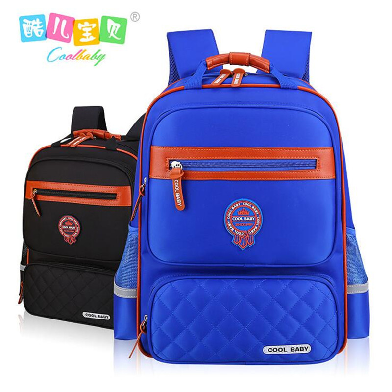 COOL BABY childre leisure school bag boy shoulders primary school guard back pack 1-3-4 - grade 6 children school bag