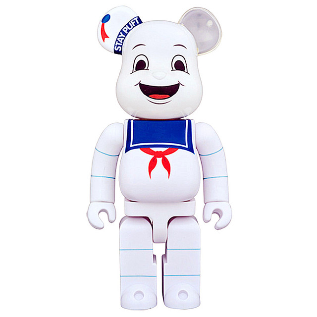 1e1cd97c72e8 Medicom Toy 400% Be rBrick Cosplay Stay Puft Marshmallow Man Bearbrick PVC  Action Figure Fashion Toys In Retail Box WMQ02