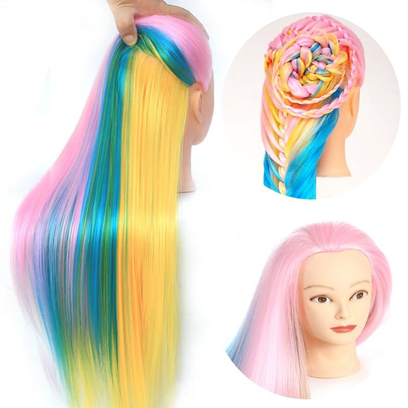 Barvita 22-palčna Yaki lasna manekenka, sintetična lasulja, - Umetnost, obrt in šivanje