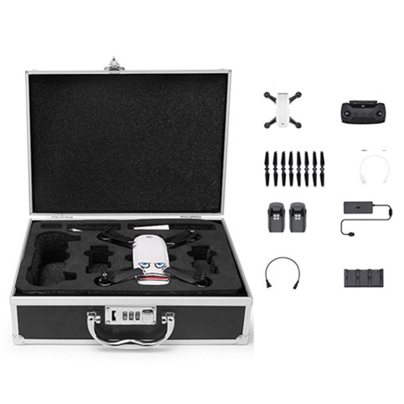 Password Box Aluminum Code Case Storage Waterproof Safety Suitcase for DJI Spark Drone Accessories