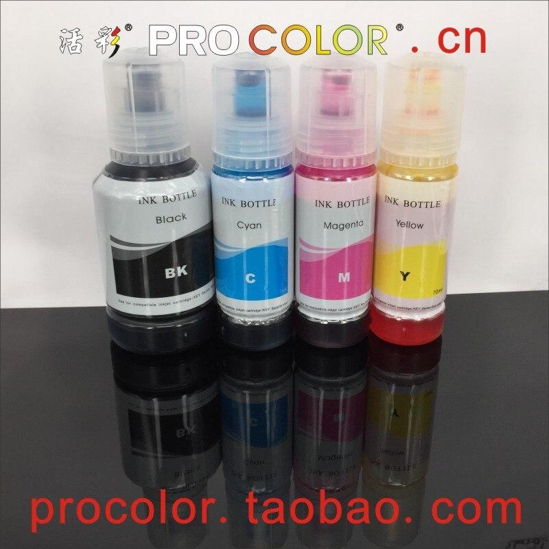 US $22 5 10% OFF|003 104 504 544 CISS Dye ink refill kits For Epson L4150  L4160 L6161 L3110 L3150 ET 2710 ET 2711 ET2710 Eco Tank inkjet printer-in