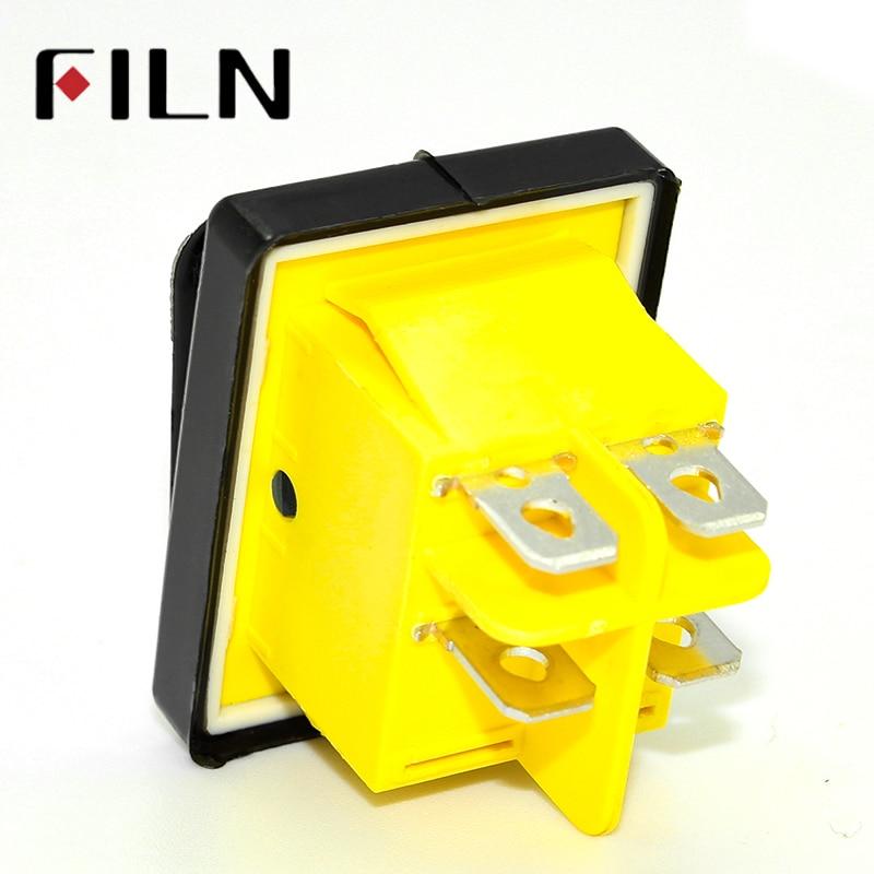 Водонепроницаемый светодиодный переключатель KCD4 T85, 220 В, 30 А