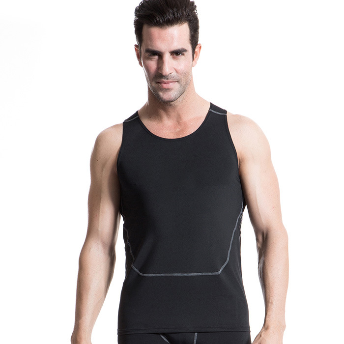 Mens Wear Compression Tank Top Base Layers Tops Shirts bodybuilding fitness Skins Easy Dry PRO Tees
