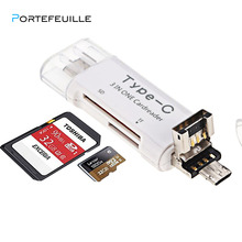 PORTEFEUILLE 3 in 1Type-C For Android Phone Tablet