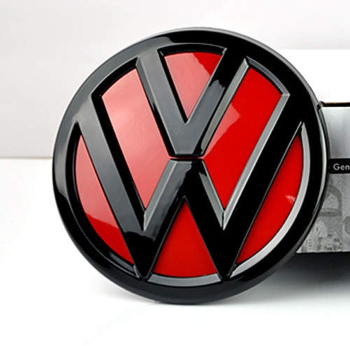 Vw Golf 1 Red Devil: DIABLO Rojo Negro Brillante Trasero Boot Trunk Emblema De