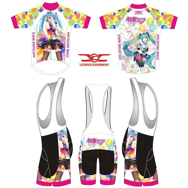 Crossriders 2019 Japan Racing Miku Cycling Jersey Mtb Bicycle Clothing  Breathable Bike Wear Clothes bib Short Maillot sportwear 6b2b11e19