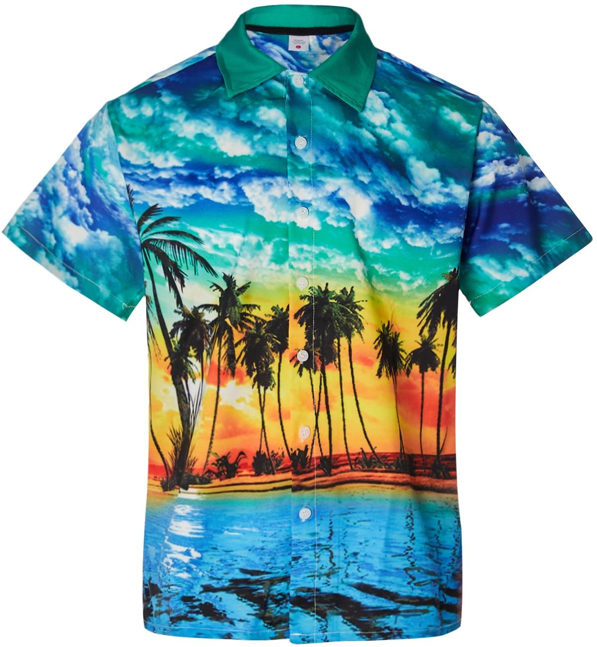 19c80c23c Alisister Mens Hawaiian Shirt Male Casual Camisa Masculina Printed Beach  Shirts Short Sleeve Fashion Brand Chemise Homme Blouse