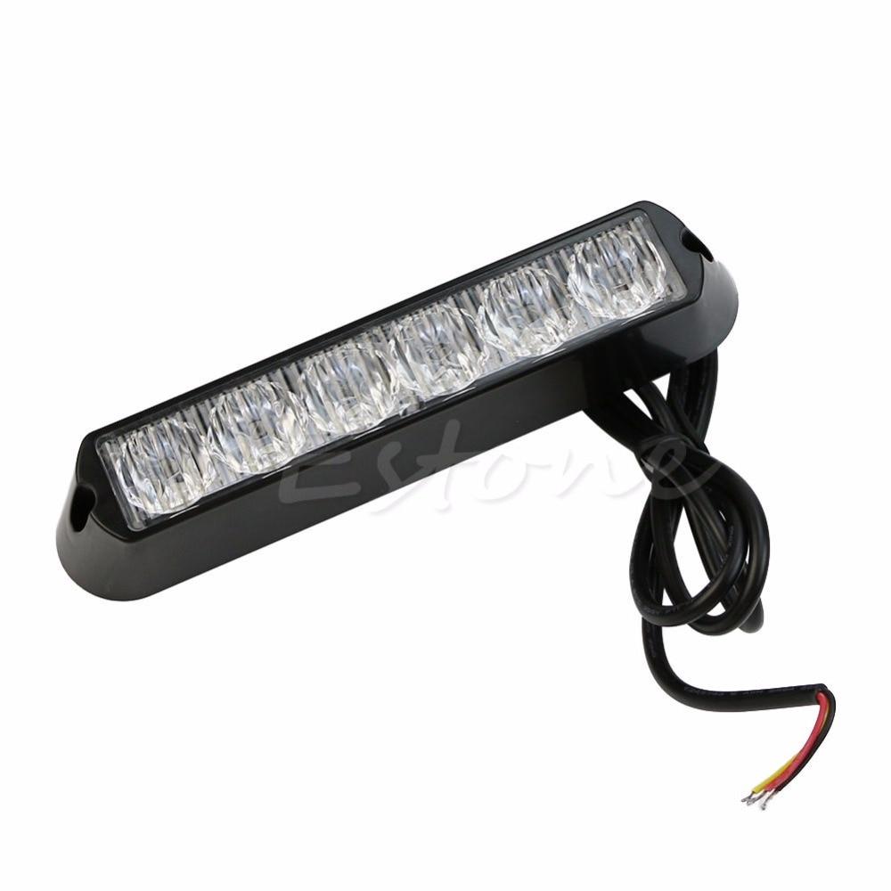 CYAN SOIL BAY 6 LED Car Truck 6 LED Red Light DRL Emergency Beacon Lamp Bar Hazard Strobe Warning