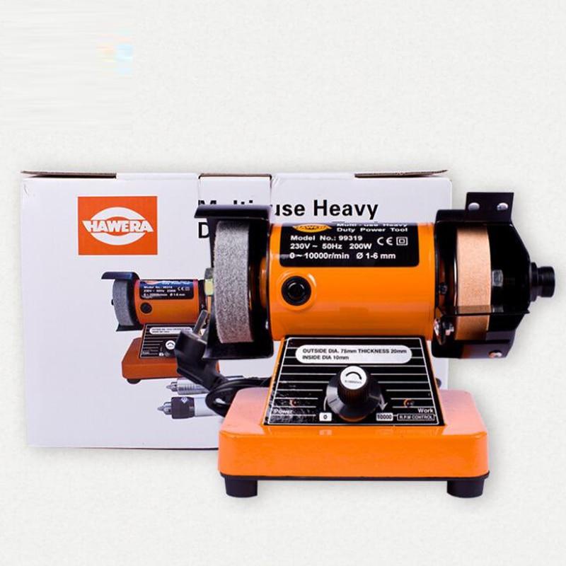 Household Mini Bench Grinder Diy Polishing Machine Micro Desktop Polishing Lathe Electric Grinder 99319
