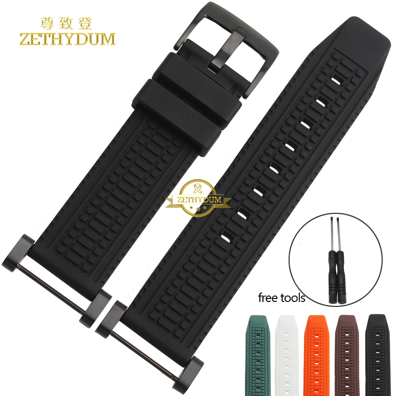Rubber watchband Smart watch Strap Silicone wristband bracelet Wristwatches band for SUUNTO CORE watch belt 24mm