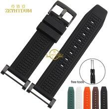 Caoutchouc bracelet smart watch bracelet silicone bracelet bracelet montres band pour suunto core montre ceinture 24mm avec linker