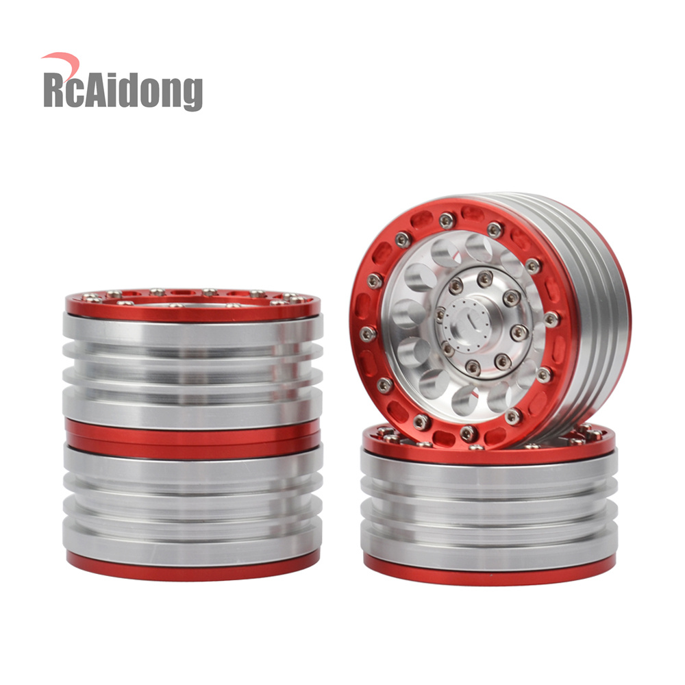 4PCS RC Crawler Car Metal Alloy 1.9 BEADLOCK Wheel Rim for 1/10 Axial SCX10 Tamiya CC01 D90 D110 Wheel Hub Parts 4pcs 1 10 scale rc climb car 1 9 beadlock crawler wheels rims for rc4wd scx10 cc01 alloy aluminum spoke wheel rim
