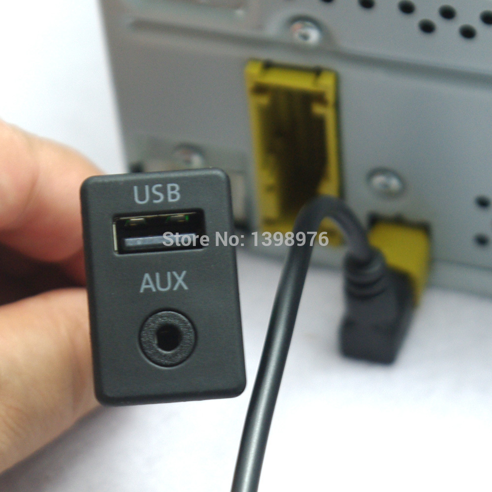 oem usb aux switch cable fit rcd510 rns510 usb version for. Black Bedroom Furniture Sets. Home Design Ideas