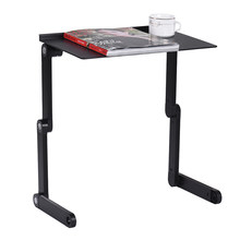 Foldable Laptop Table Stand Vented Computer Desk Bed Lap Tray 360 Degree Adjustable Aluminum Alloy Office Supplies(China)