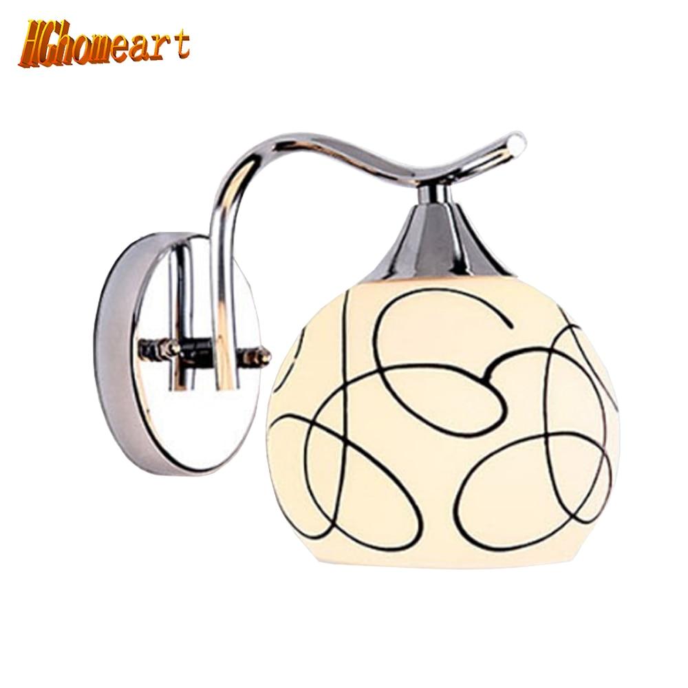 ФОТО Hghomeart LED Modern Light 110v-220v E27 Wall Mounted Bedside Reading Lamps White Single Head Without Bulb Bedroom Wall Lights