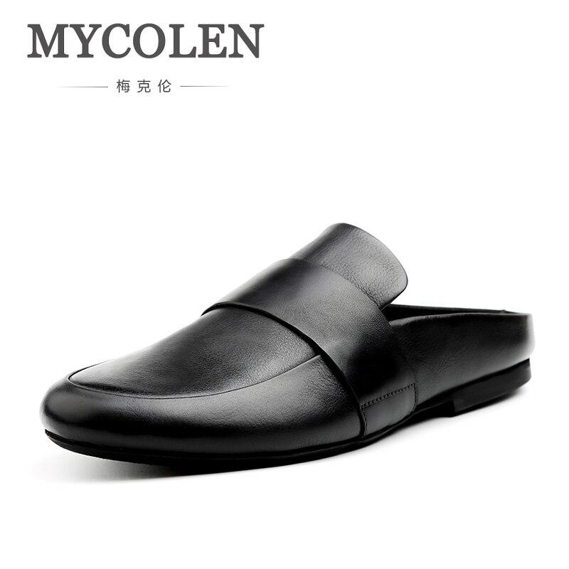 MYCOLEN/пляжные шлепанцы; Новинка; модные мужские туфли светильник; дышащие мужские тапочки; удобная Уличная обувь; летние мужские шлепанцы