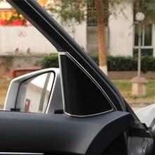 ABS Chrome Car Interior Door Loud Speaker Audio Frame Trim For Mercedes Benz C Class W204 C180 C200 C260 2008-2014 Styling